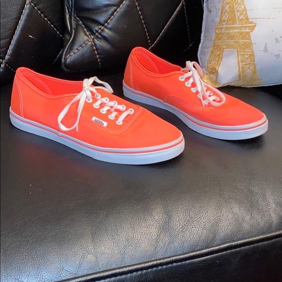 Vans Shoes | Orange Low Top | Poshmark